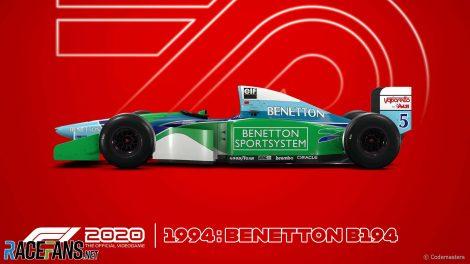 Benetton B194 F1 2020 car model