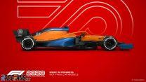 McLaren F1 2020 car model