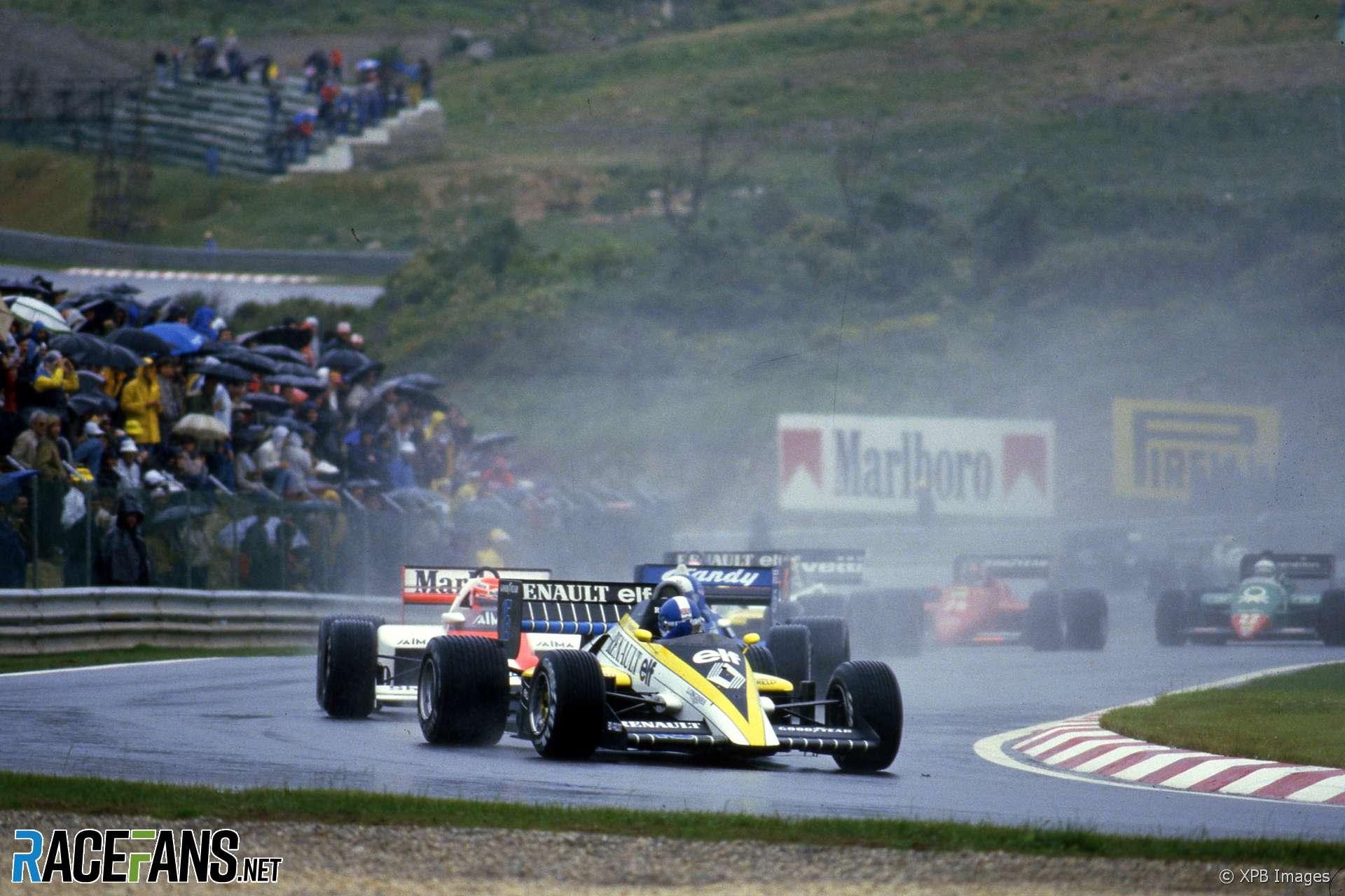 Derek Warwick, Renault, Estoril, 1985