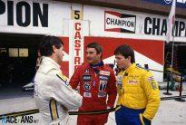 Nigel Mansell, Derek Warwick, Martin Brundle, Imola, 1985