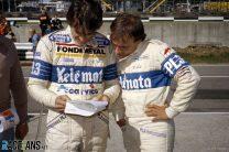 Piercarlo Ghinzani, Corrado Fabi, Osella, Brands Hatch, 1983