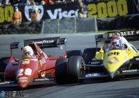 Rene Arnoux, Eddie Cheever, Brands Hatch, 1983