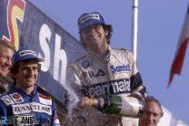 Alain Prost, Nelson Piquet, Brands Hatch, 1983