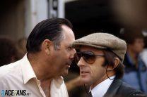 Jack Brabham, Jackie Stewart, Brands Hatch, 1983