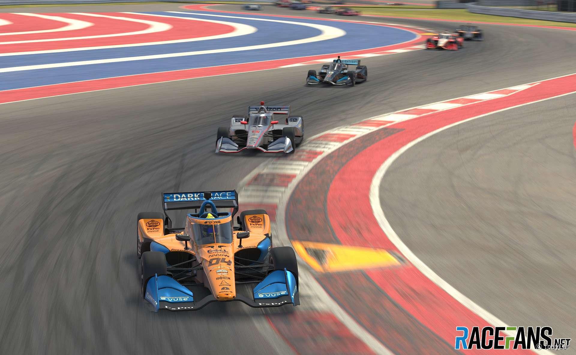 Lando Norris, McLaren SP, IndyCar iRacing Challenge, Circuit of the Americas, 2020