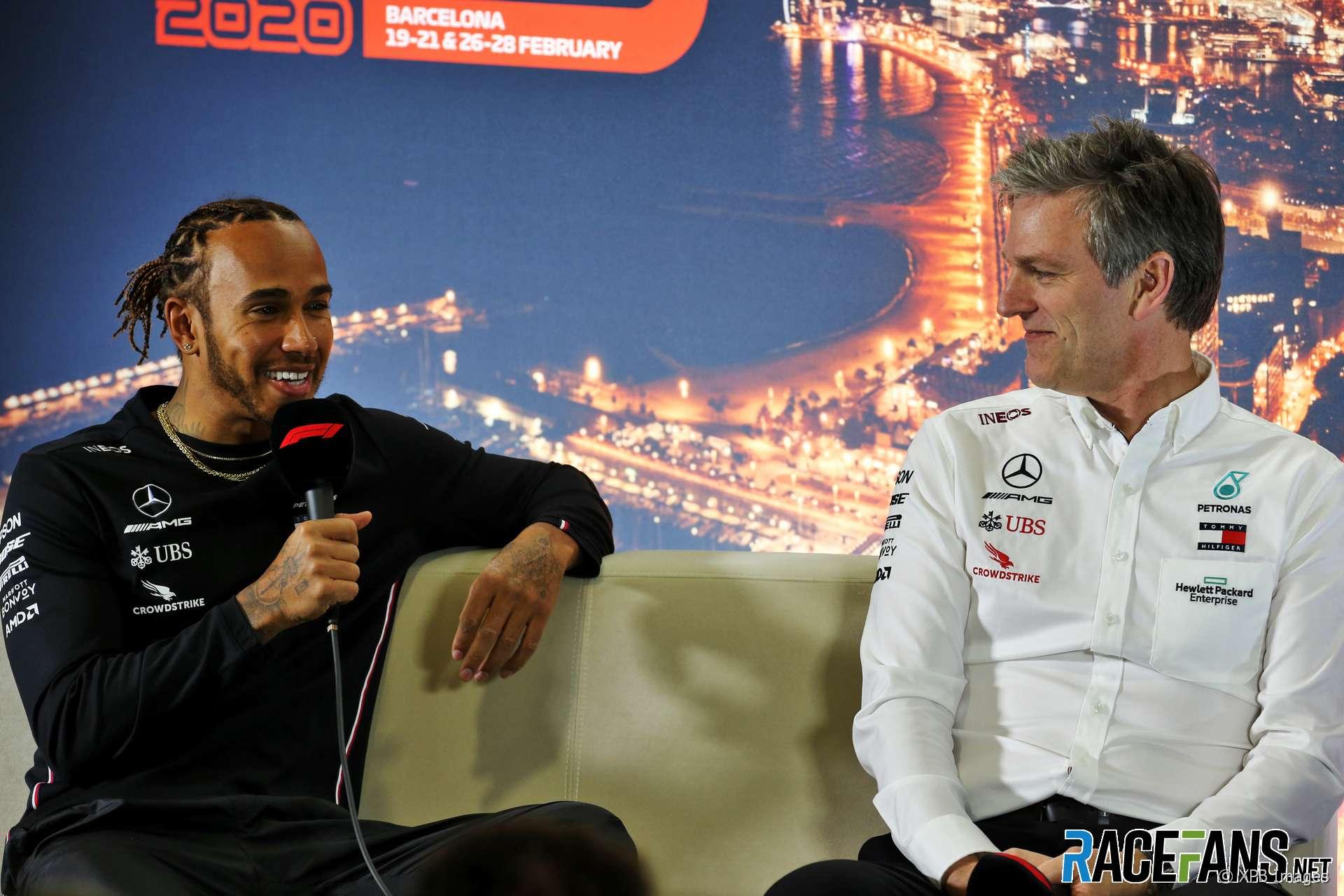 Lewis Hamilton, James Allison, Mercedes, 2020