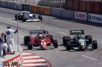 Rene Arnoux, Ferrari, Michele Alboreto, Tyrrell, Long Beach, 1983