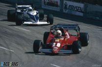 Rene Arnoux, Ferrari, Riccardo Patrese, Brabham, Long Beach, 1983