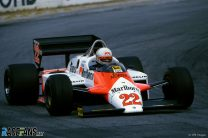 Andrea de Cesaris, Alfa Romeo, Long Beach, 1983
