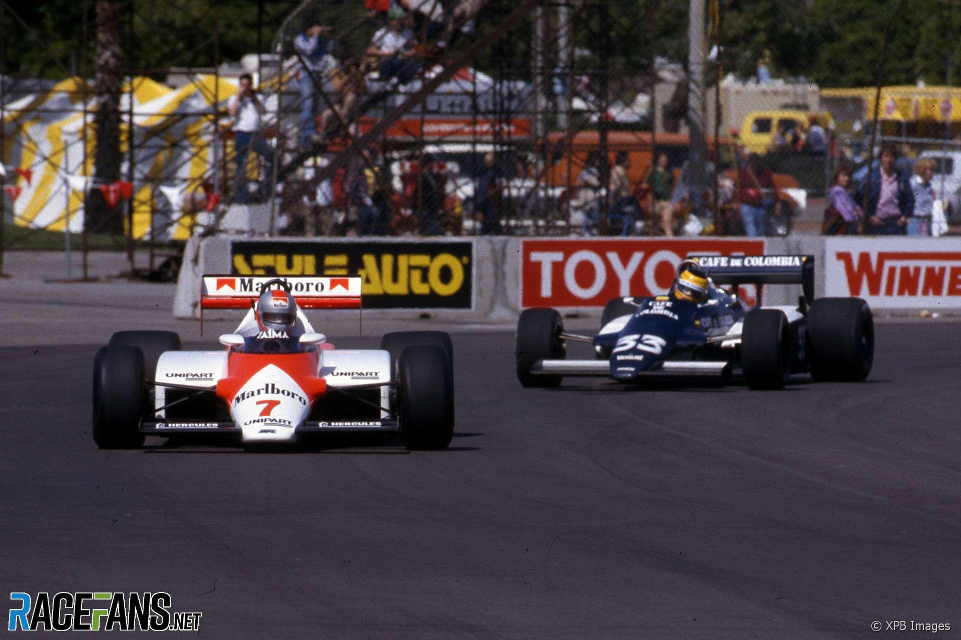 John Watson, McLaren, Roberto Guerrero, Theodore, Long Beach, 1983