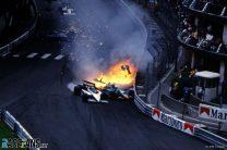 Nelson Piquet and Riccardo Patrese collide, Monaco, 1985