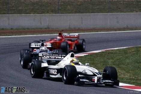 Ralf Schumacher, David Coulthard, Rubens Barrichello, Circuit de Catalunya, 2000