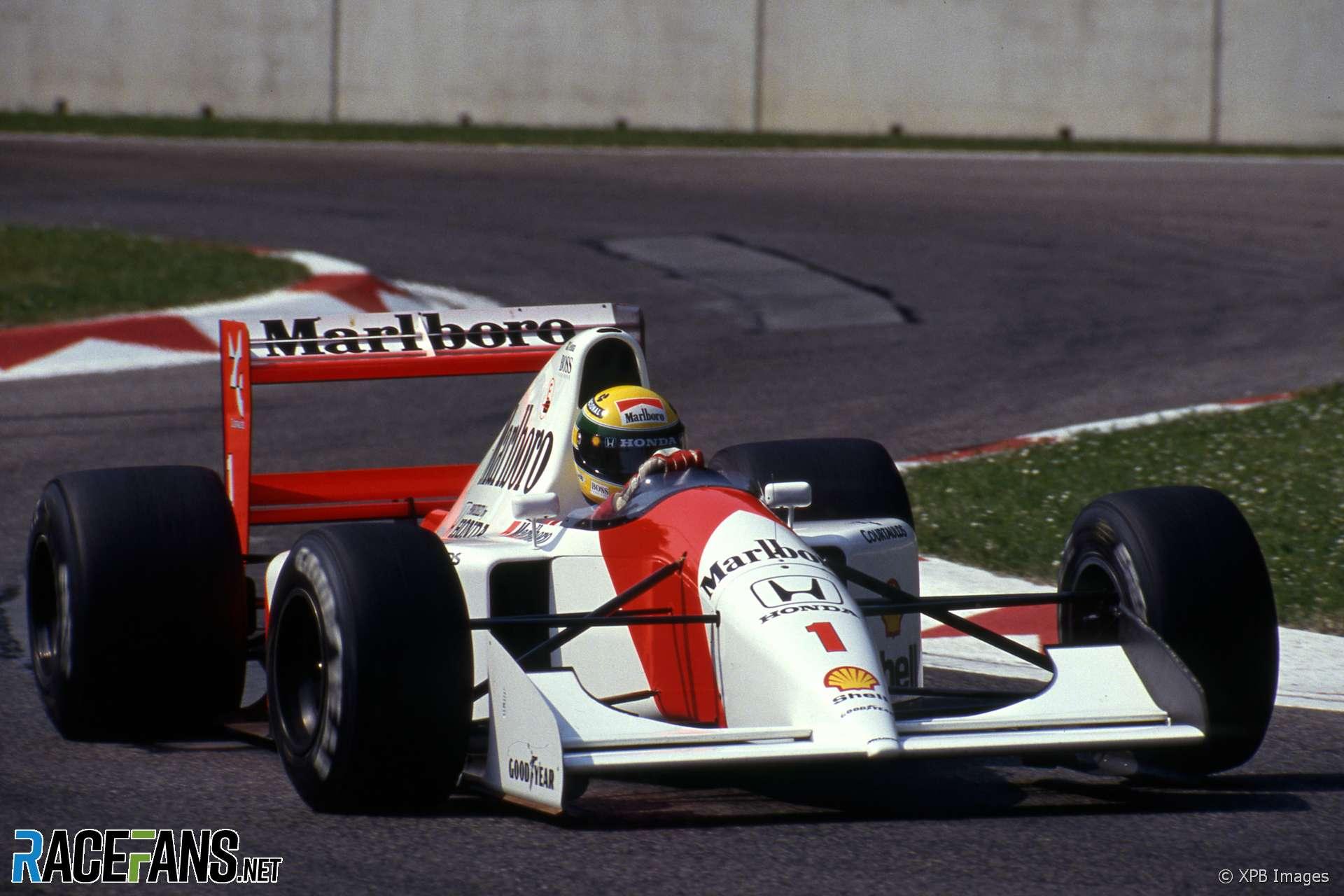 Ayrton Senna, McLaren, Imola, 1992