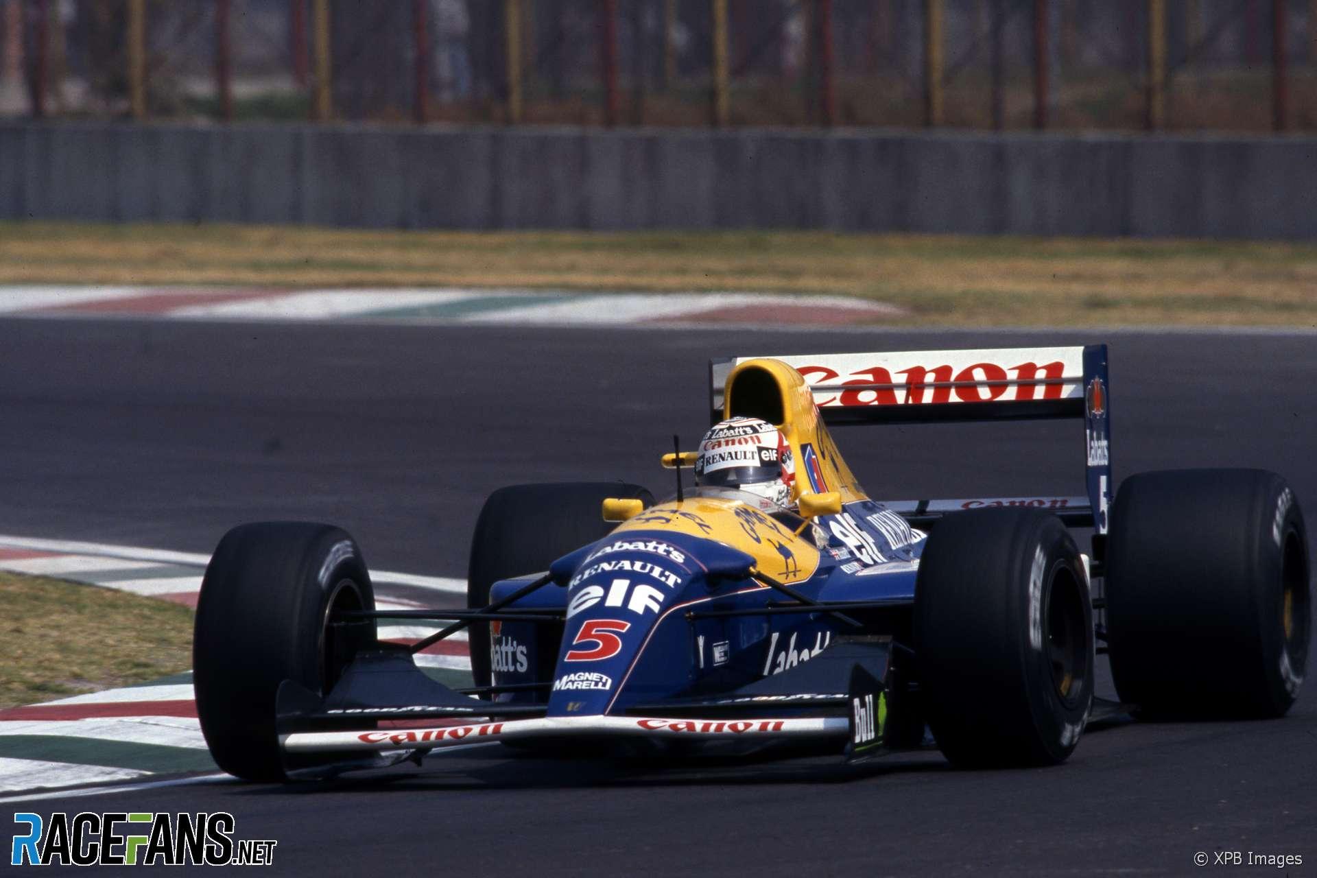 Nigel Mansell, Williams, Autodromo Hermanos Rodriguez, 1992