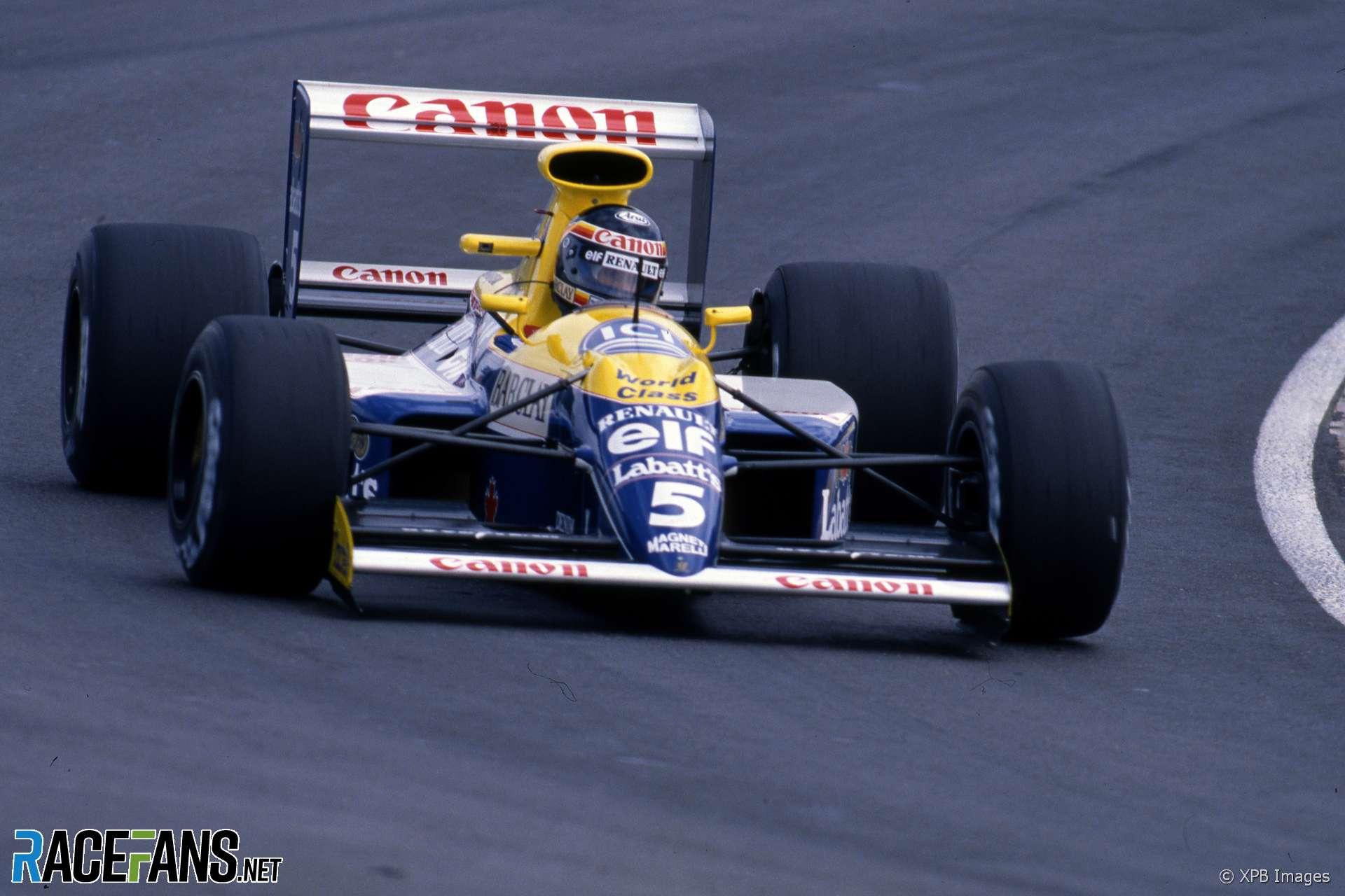 Thierry Boutsen, Williams, Interlagos, 1990