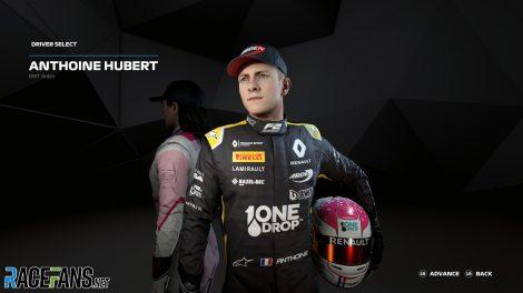 F1 2019 screenshot: Anthoine Hubert