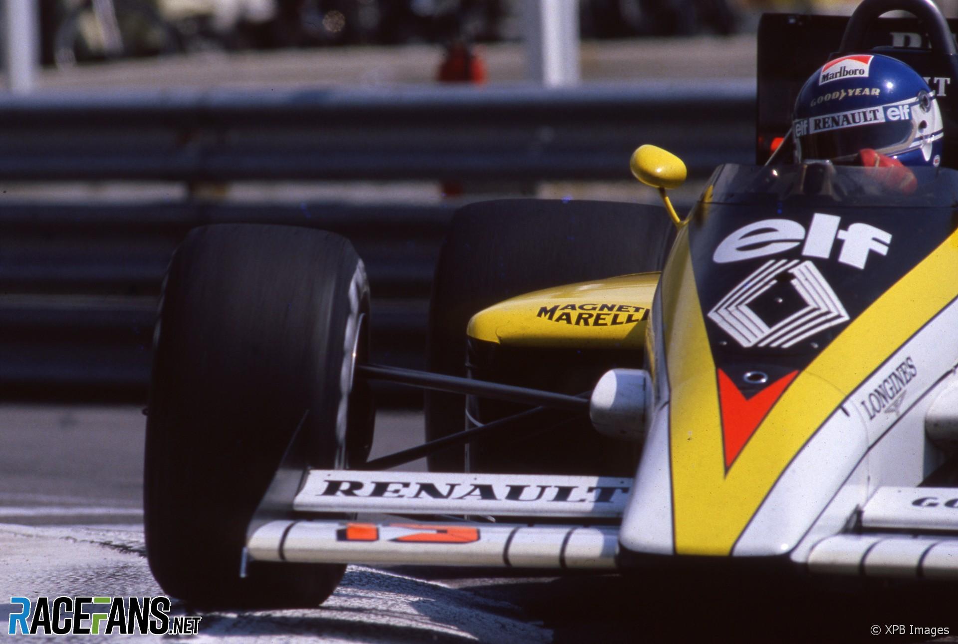 Patrick Tambay, Renault, Monaco, 1985
