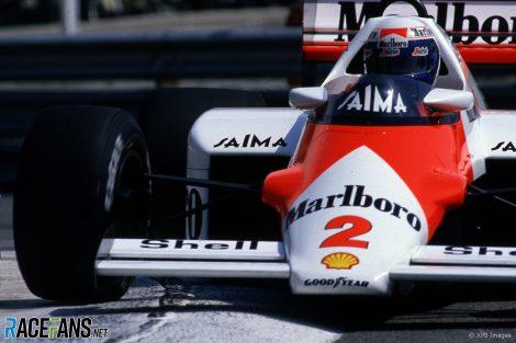 Alain Prost, McLaren, Monaco, 1985