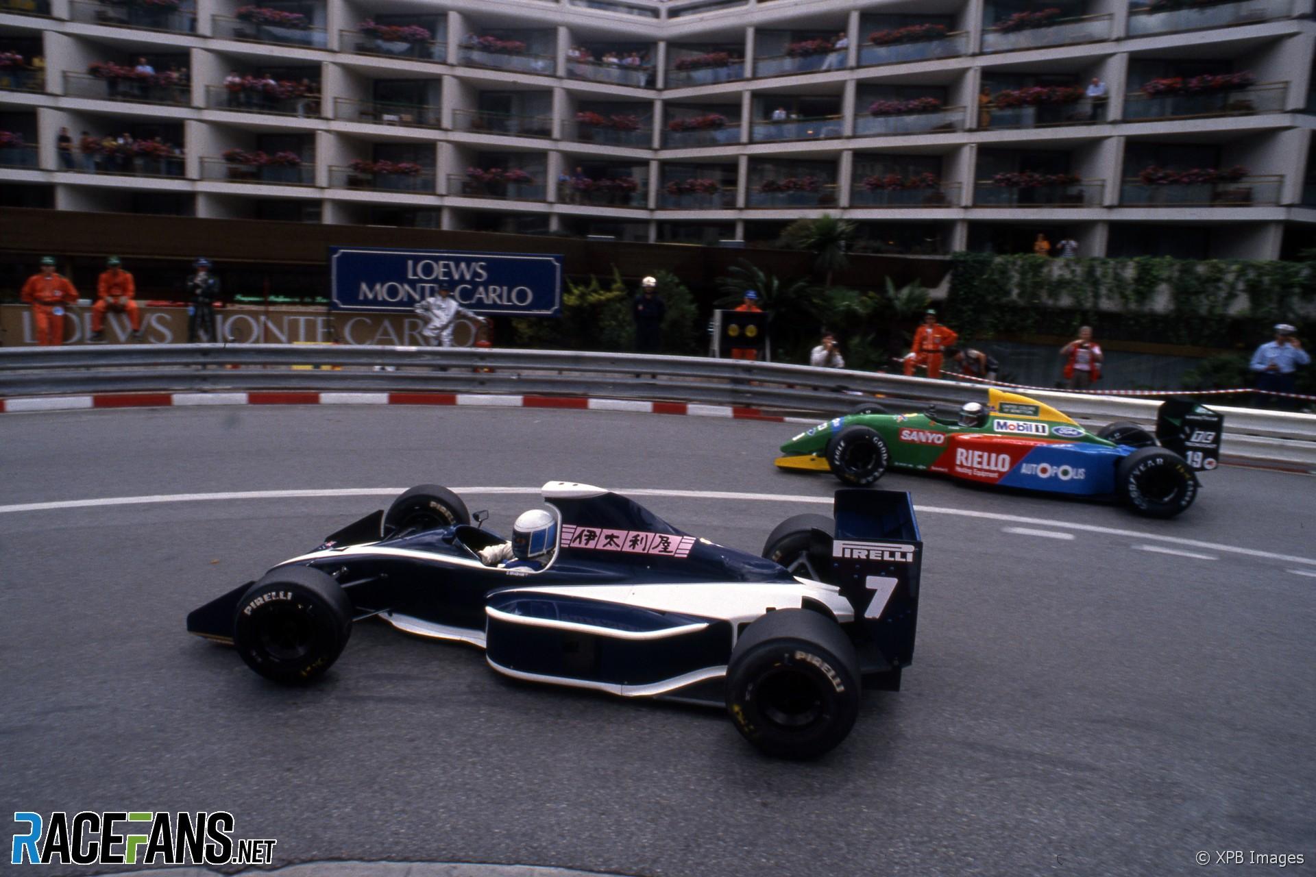 David Brabham, Alessandro Nannini, Monaco, 1990