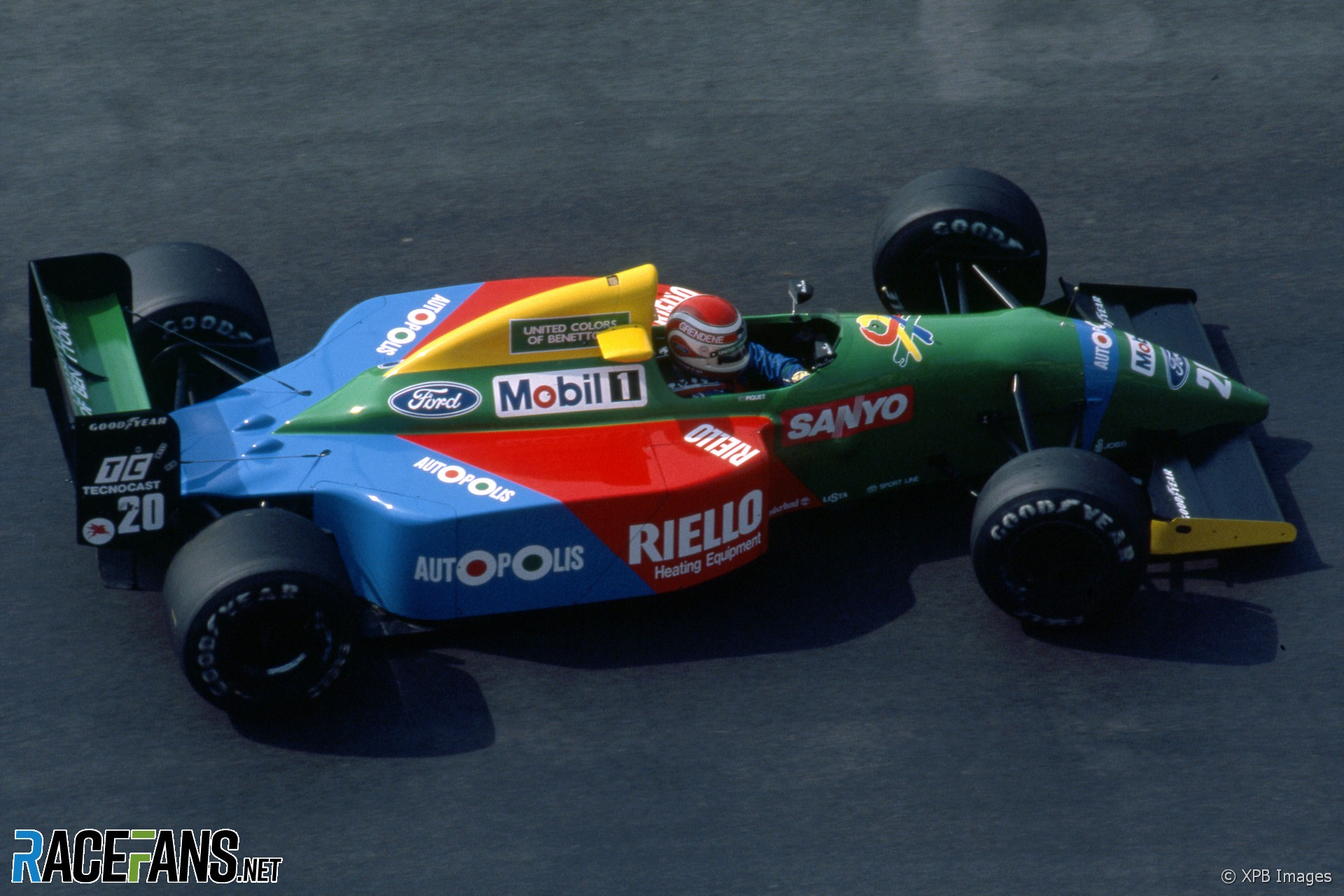 Nelson Piquet, Benetton, Monaco, 1990