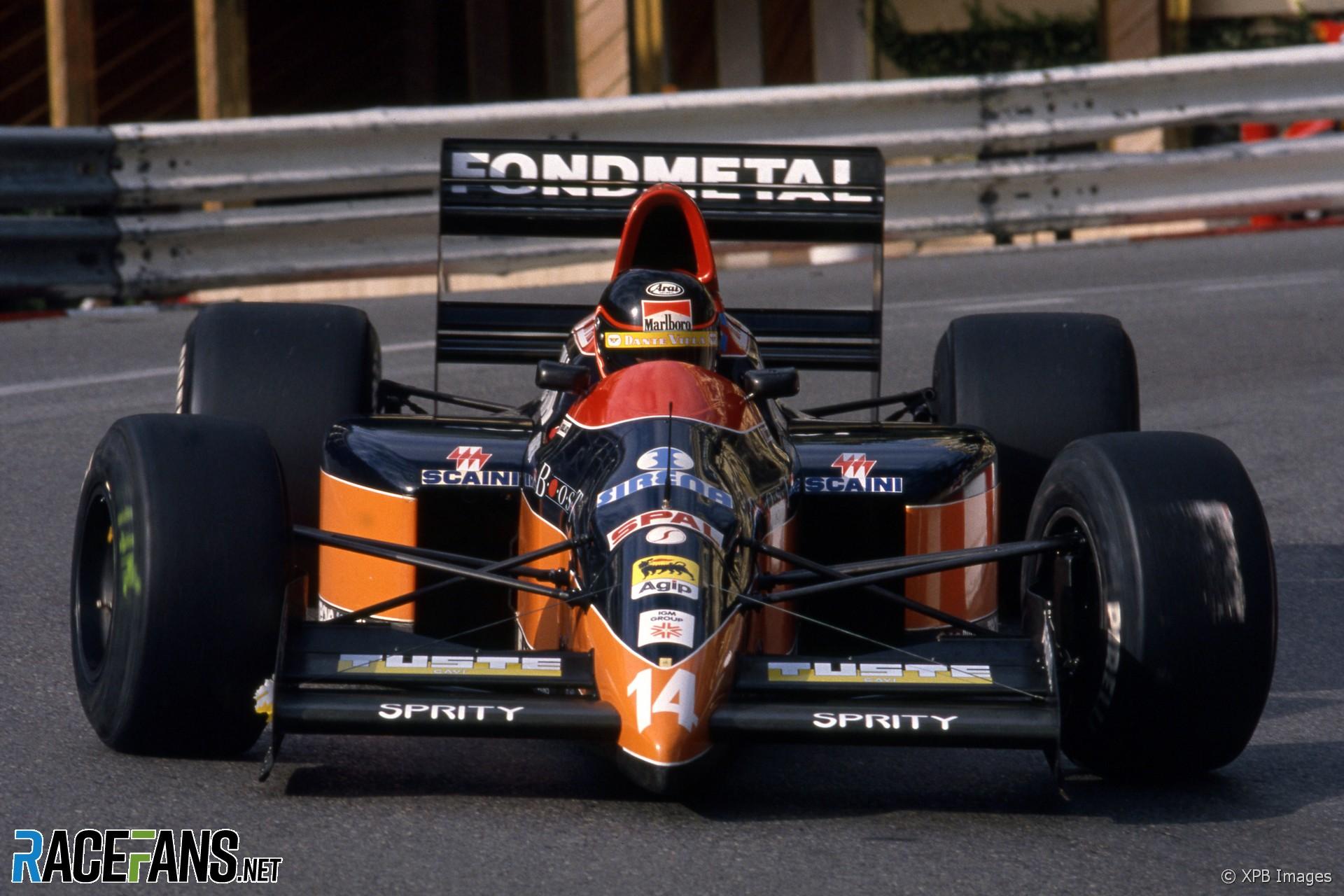 Olivier Grouillard, Osella, Monaco, 1990