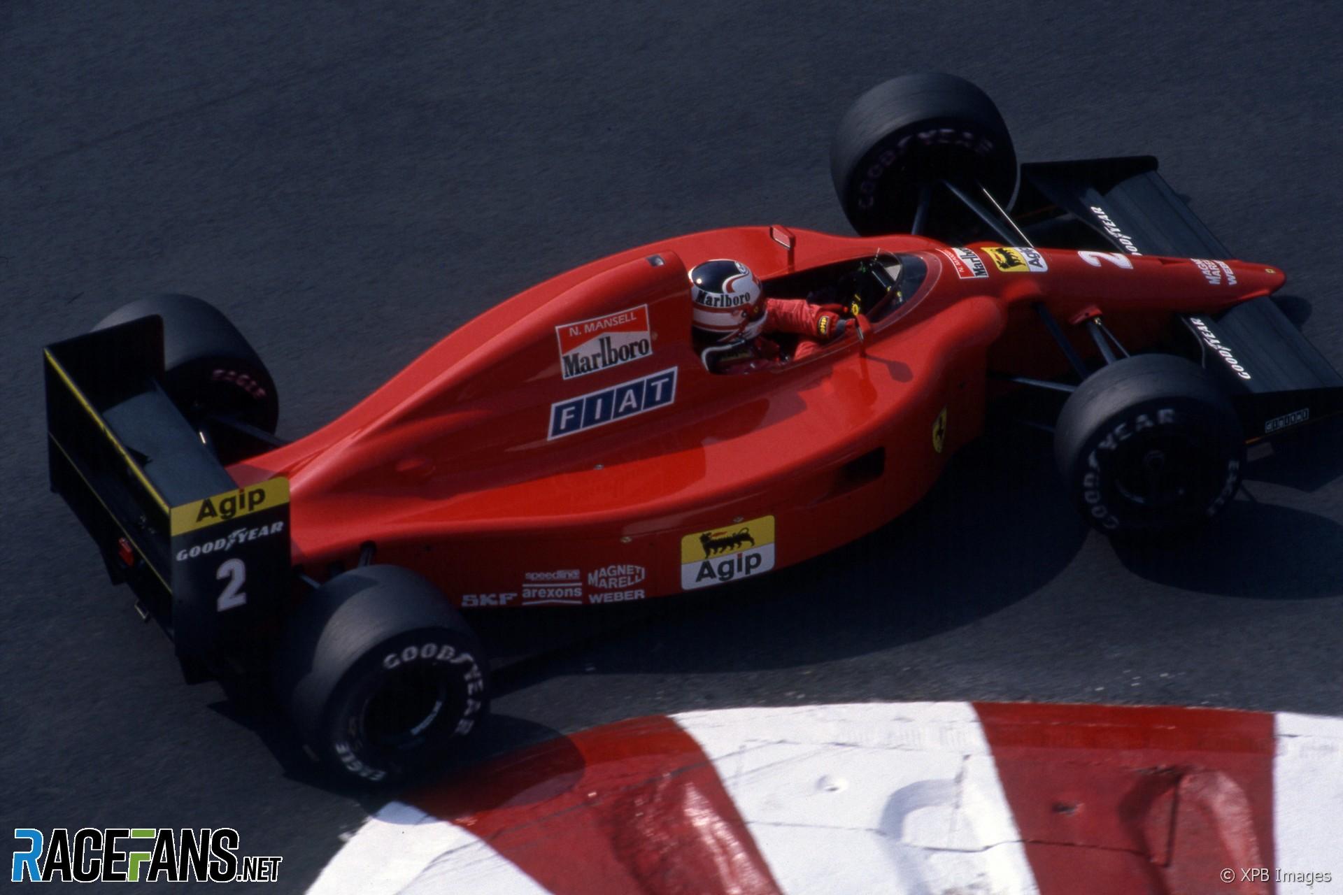 Nigel Mansell, Ferrari, Monaco, 1990