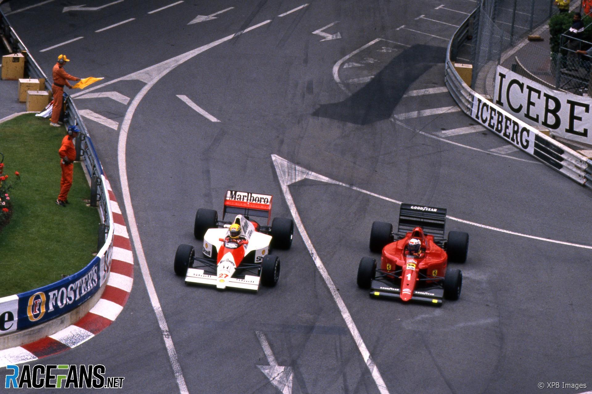Ayrton Senna, Alain Prost, Monaco, 1990