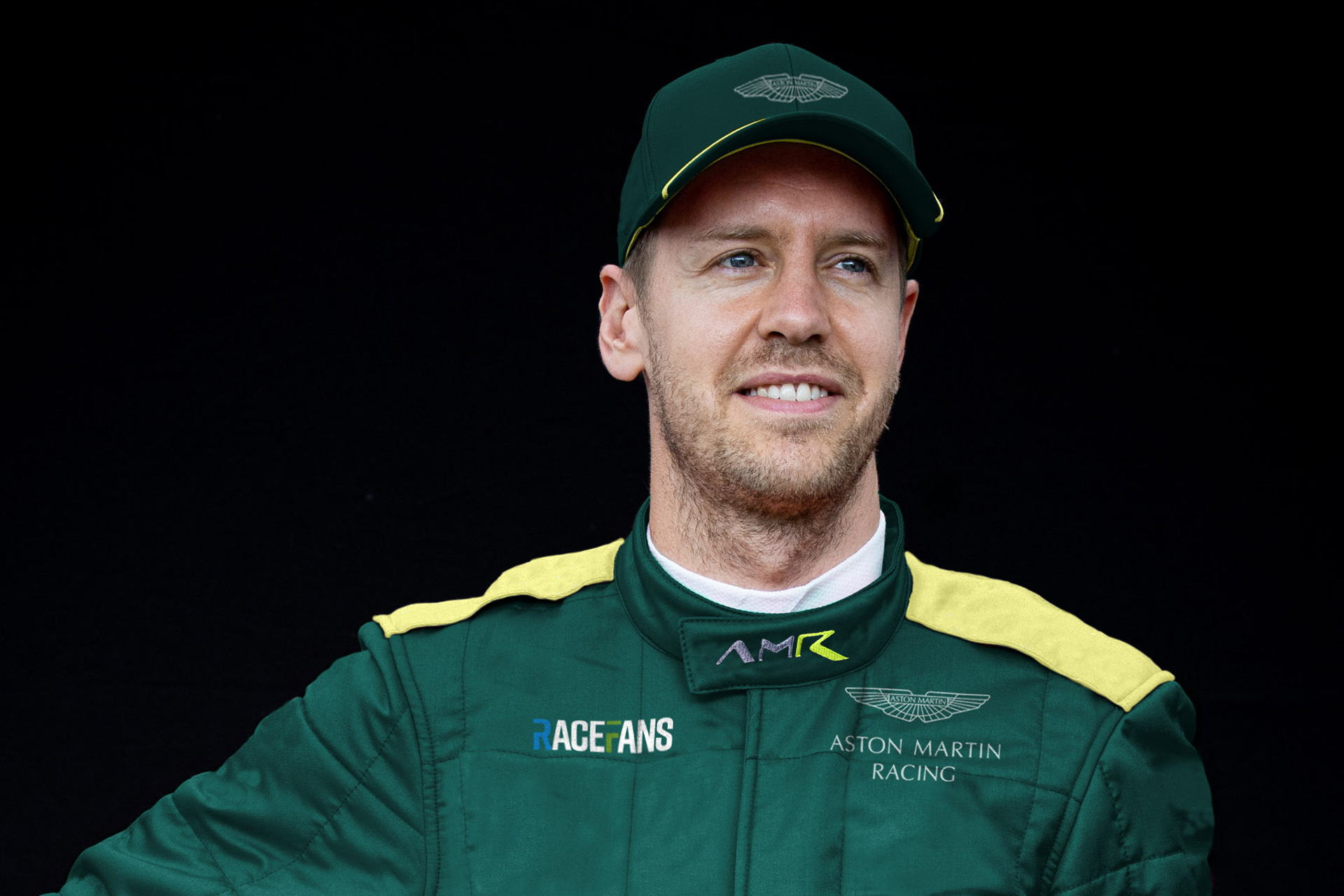RaceFans image: How Sebastian Vettel could look as an Aston Martin driver
