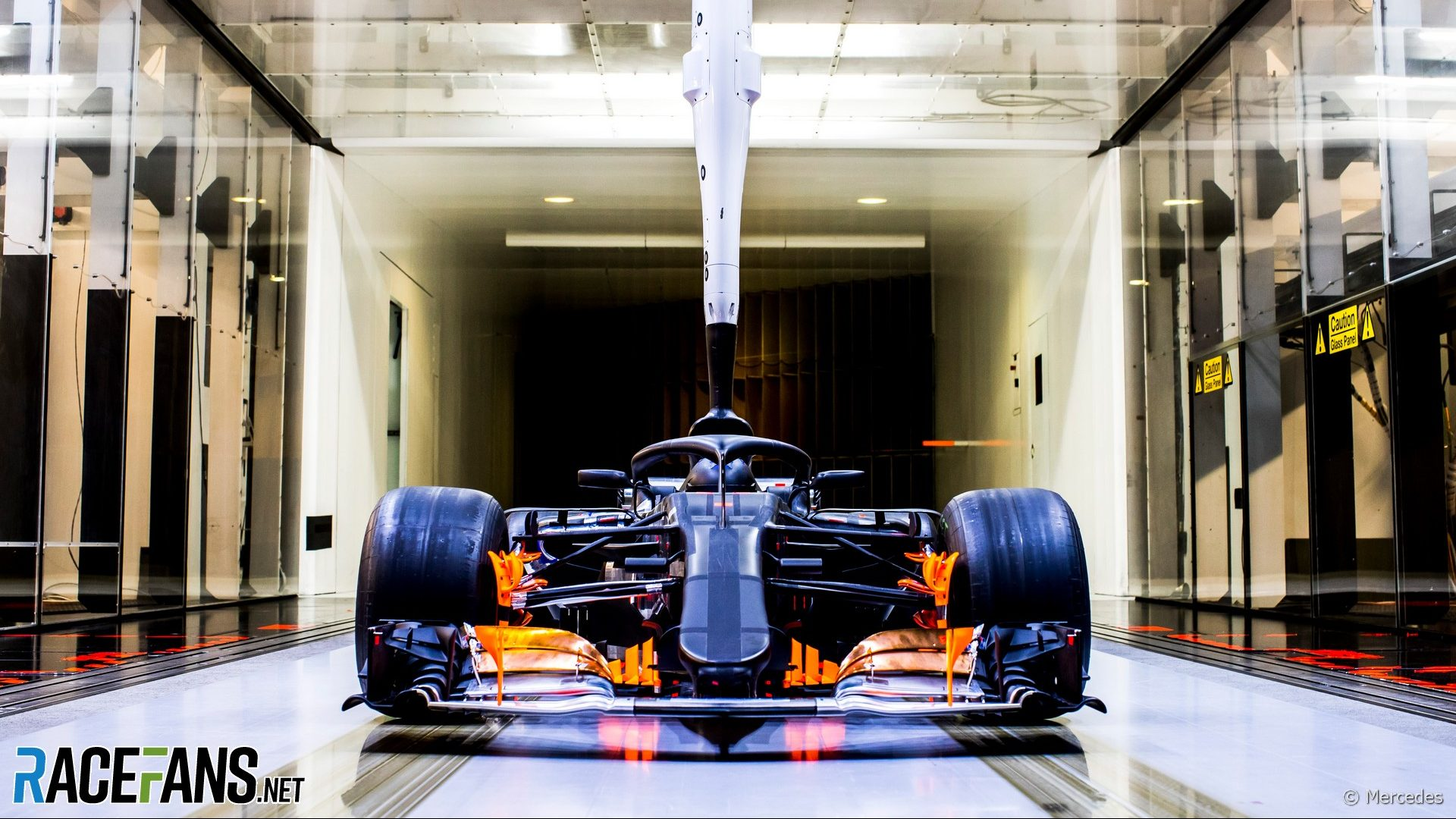 Mercedes Brackley factory 2018 - wind tunnel
