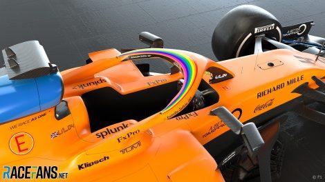 McLaren with #WeRaceAsOne branding