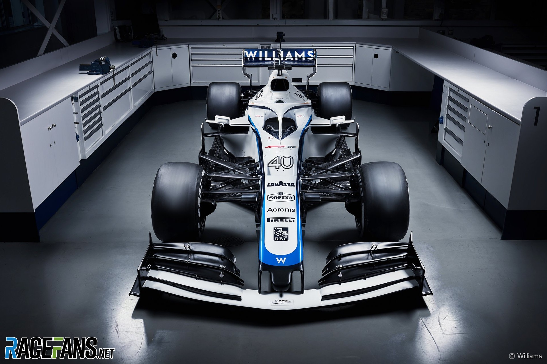 Williams FW43 in new livery, 2020