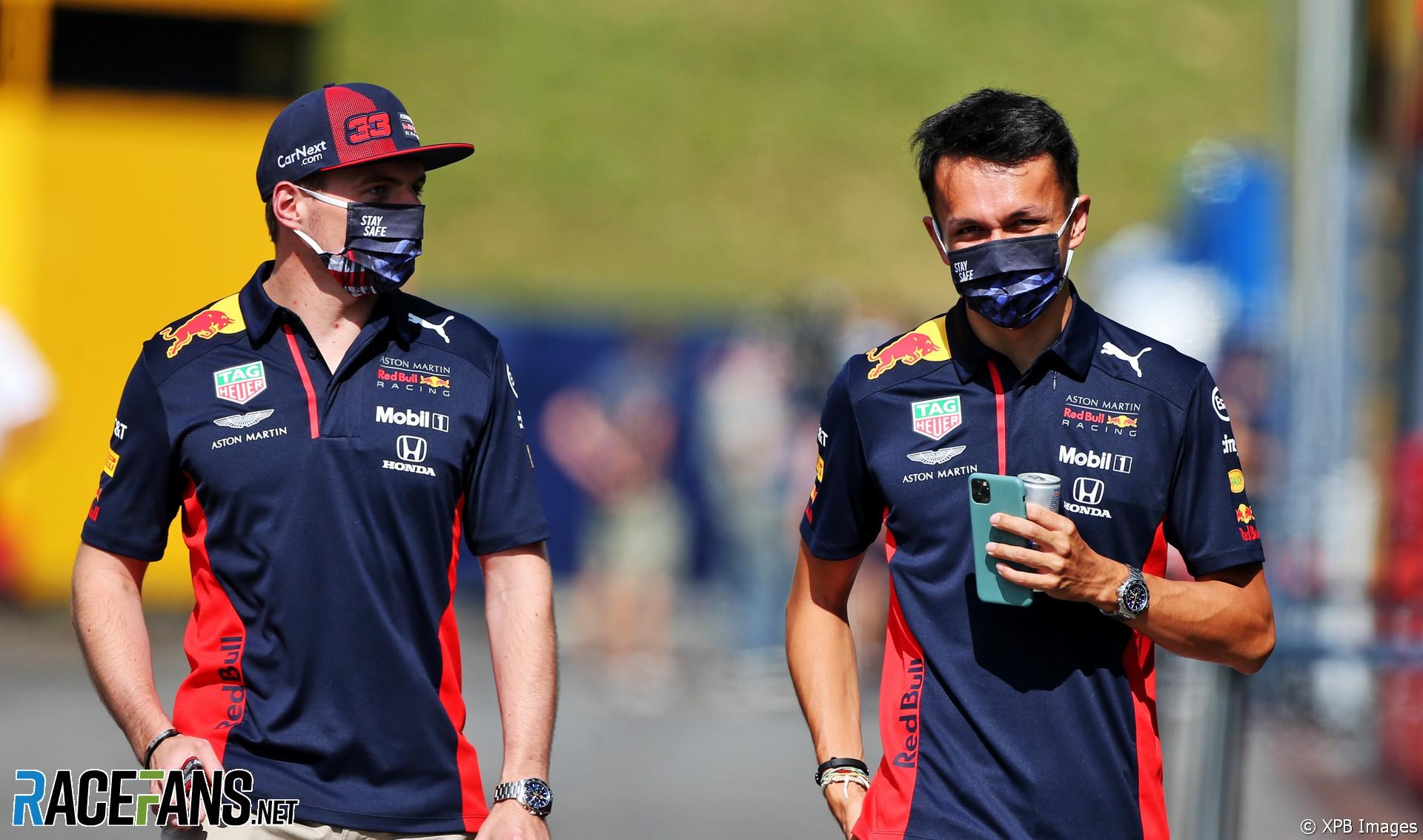 Max Verstappen, Alexander Albon, Red Bull, Red Bull Ring, 2020