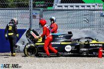 Verstappen quickest as Ricciardo crashes heavily in second practice