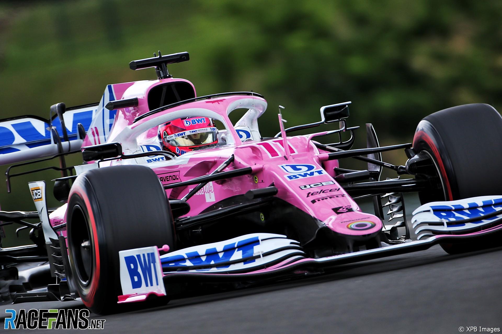 Sergio Perez, Racing Point, Hungaroring, 2020