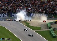 Schumacher crashes, Hakkinen wins – but McLaren lose their points