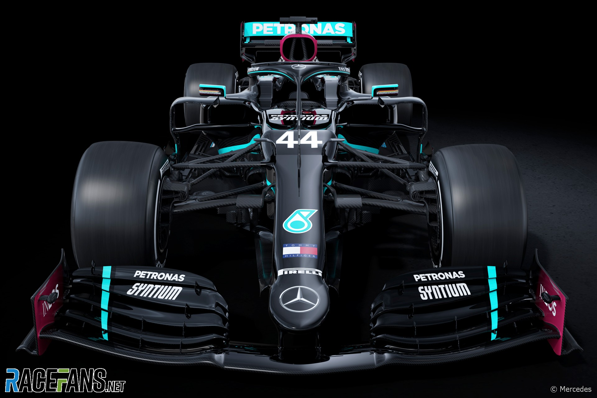 Mercedes W11 in new 'end racism' livery