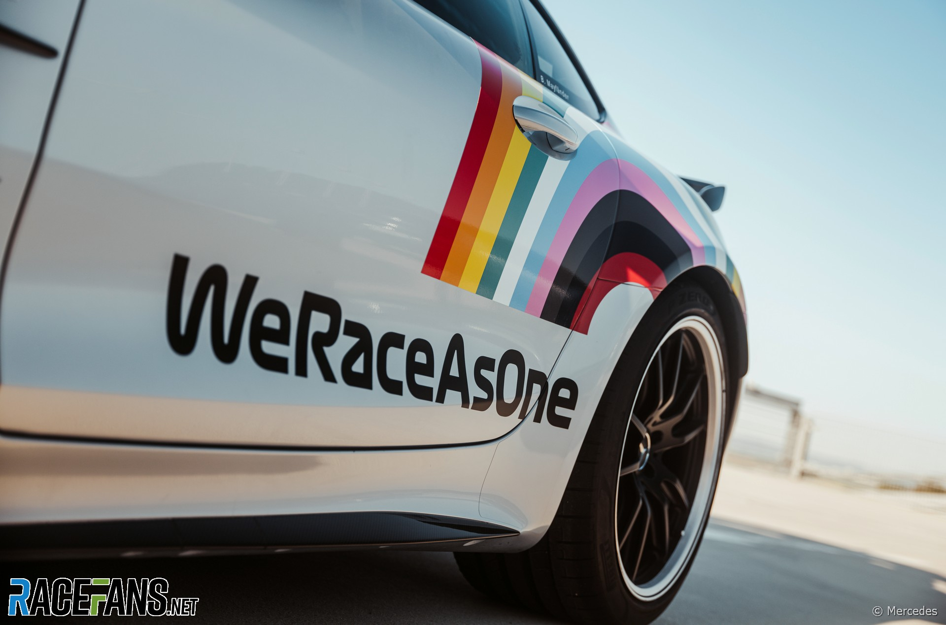 Mercedes-AMG GT R Official FIA F1 Safety Car with new WeRaceAsOne livery, 2020