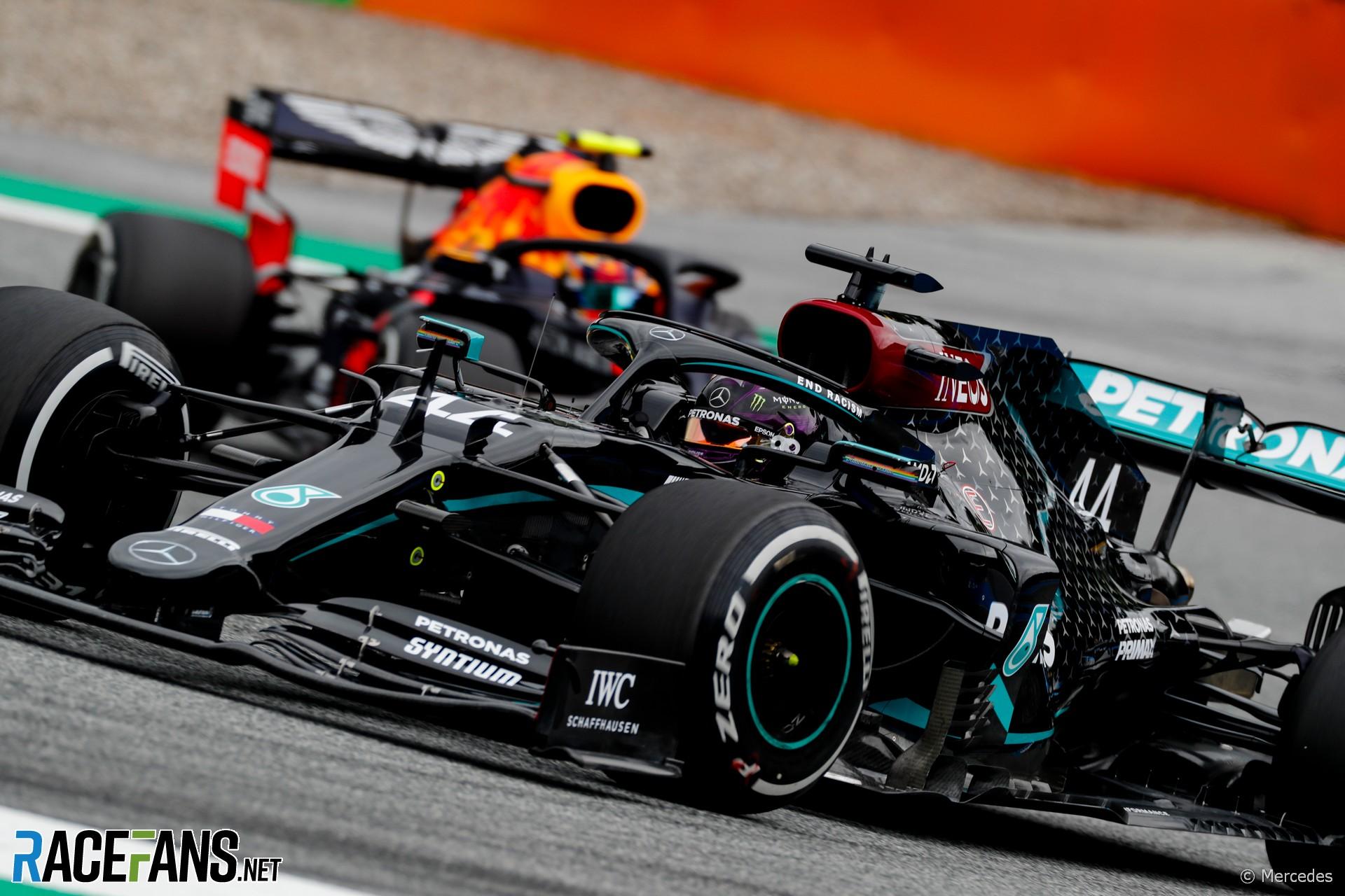 Lewis Hamilton, Mercedes, Alexander Albon, Red Bull, Red Bull Ring, 2020