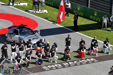Drivers take a knee, Red Bull Ring, 2020