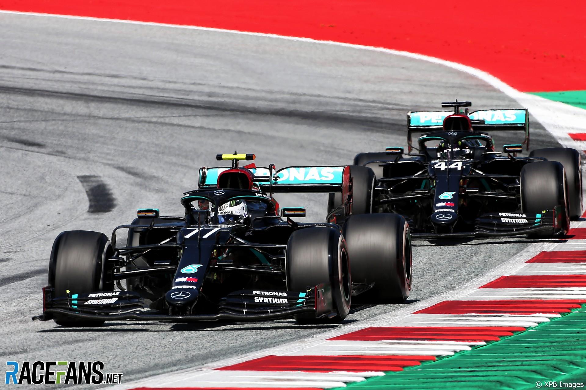 Valtteri Bottas, Lewis Hamilton, Mercedes, Red Bull Ring, 2020