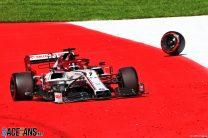 Alfa Romeo fined after Raikkonen loses wheel during race