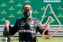 Bottas wins as Hamilton and Albon tangle again