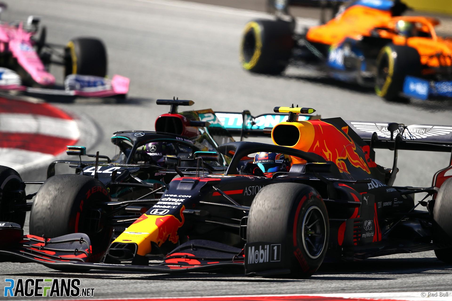 Lewis Hamilton, Alexander Albon, Red Bull Ring, 2020