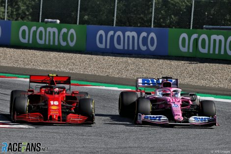 Charles Leclerc, Sergio Perez, Red Bull Ring, 2020