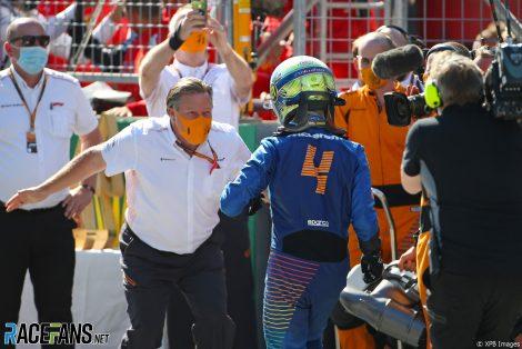 Zak Brown, Lando Norris, McLaren, Red Bull Ring, 2020