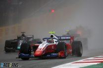 First F2 win for Ferrari's Shwartzman in delayed wet race