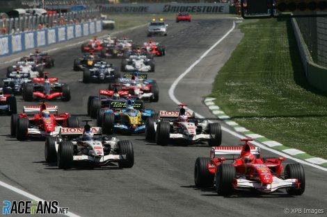 Start, Imola, 2006 San Marino Grand Prix