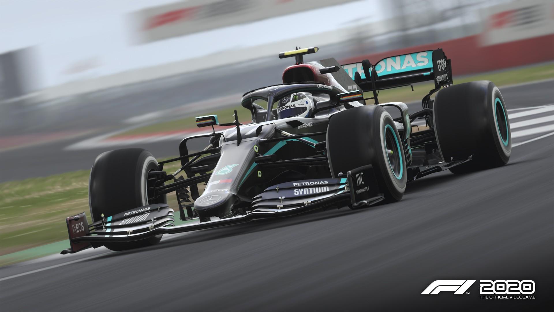 Codemasters F1 2020 screenshot - Mercedes end racism livery