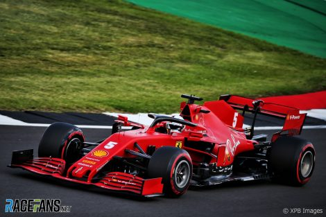 Sebastian Vettel, Ferrari, Silverstone, 2020