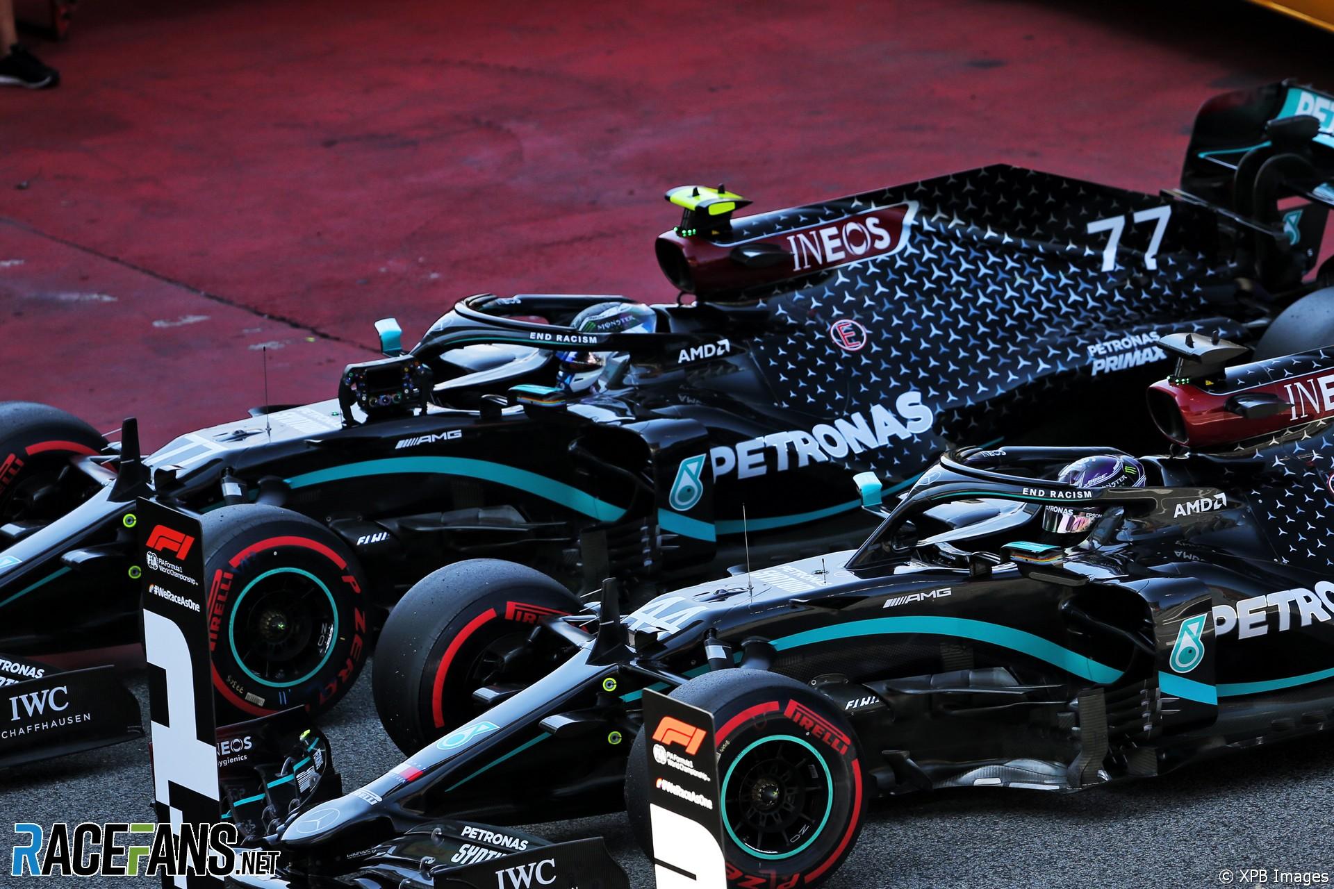Lewis Hamilton, Valtteri Bottas, Mercedes, Circuit de Catalunya, 2020